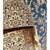 Tappeto persiano Nain fondo azzurro 165x100